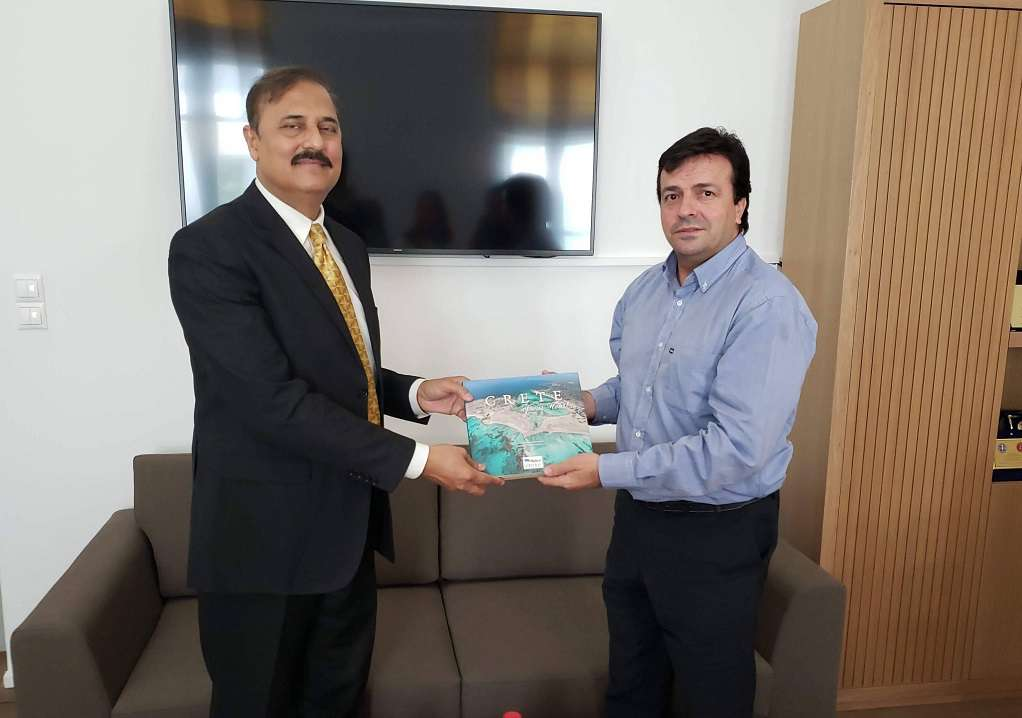 Στην Περιφέρεια Κρήτης ο νέος πρέσβης του Πακιστάν