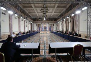 """Διάσκεψη των Προέδρων της Βουλής στην ιστορική αίθουσα """"Ελ. Βενιζέλος"""""""