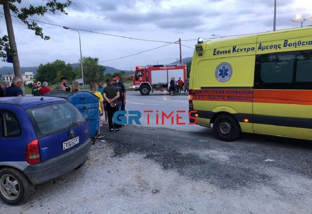 Ασπροβάλτα: Τροχαίο με δύο τραυματίες ( φωτο)