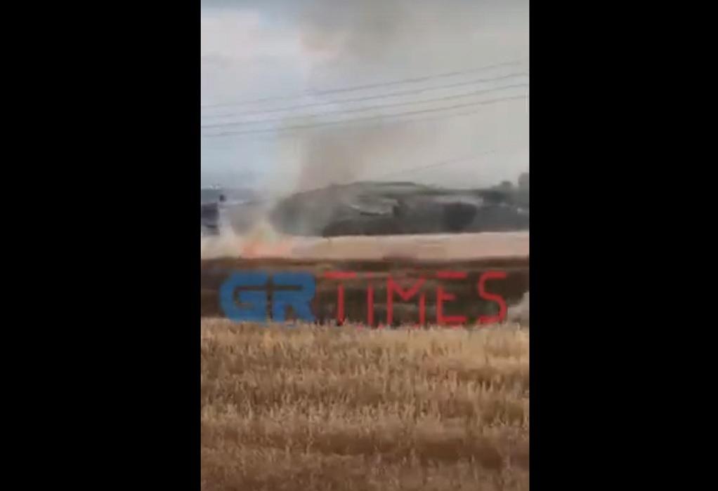 Φωτιά τώρα στη Νεοχωρούδα (VIDEO)