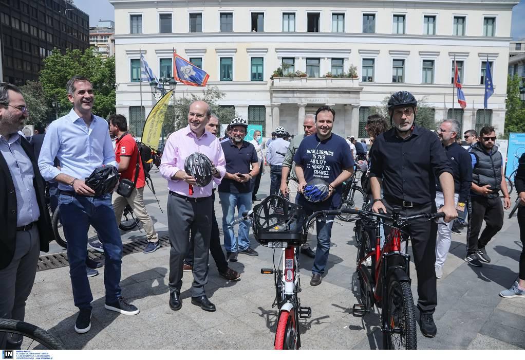 Χατζηδάκης: Εξήγγειλε νέους ποδηλατόδρομους στην Αθήνα