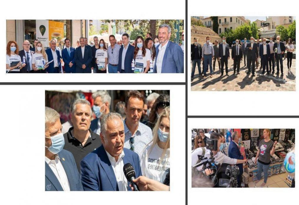 ΕΕΑ: Διανομή μασκών σε αθηναϊκές επιχειρήσεις
