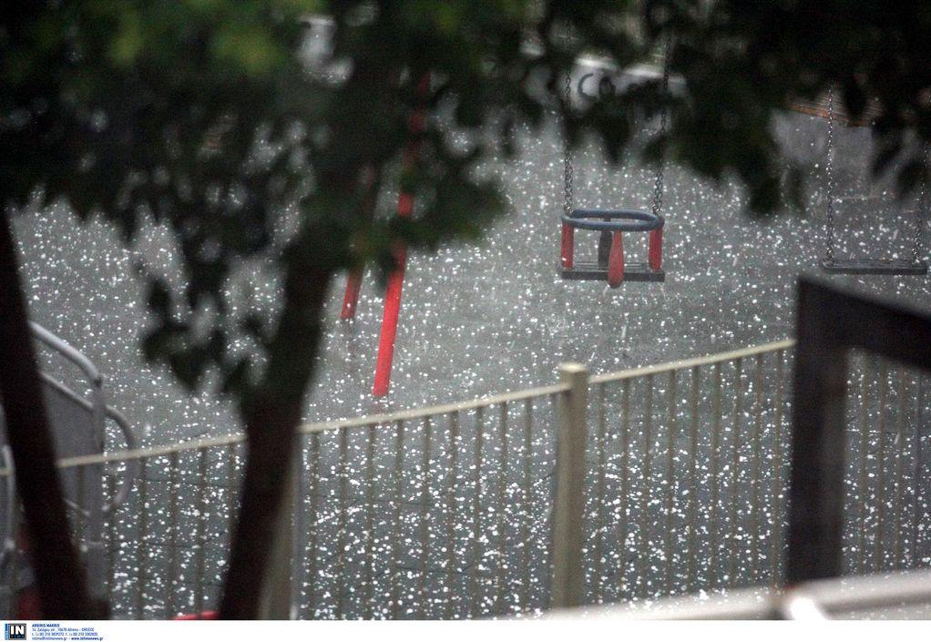 Κατερίνη: Χαλάζι και ισχυρή βροχόπτωση (VIDEO)