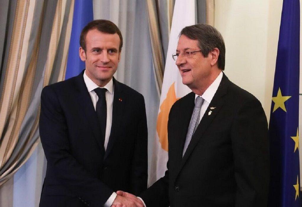 Μακρόν: Να μην αφήσουμε την ανατολική Μεσόγειο στα χέρια της Τουρκίας