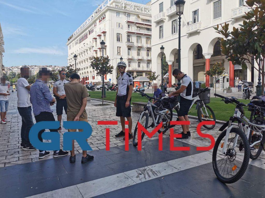 «Περιπολία» με τους ποδηλάτες αστυνομικούς της Θεσσαλονίκης, φωτογραφία-1