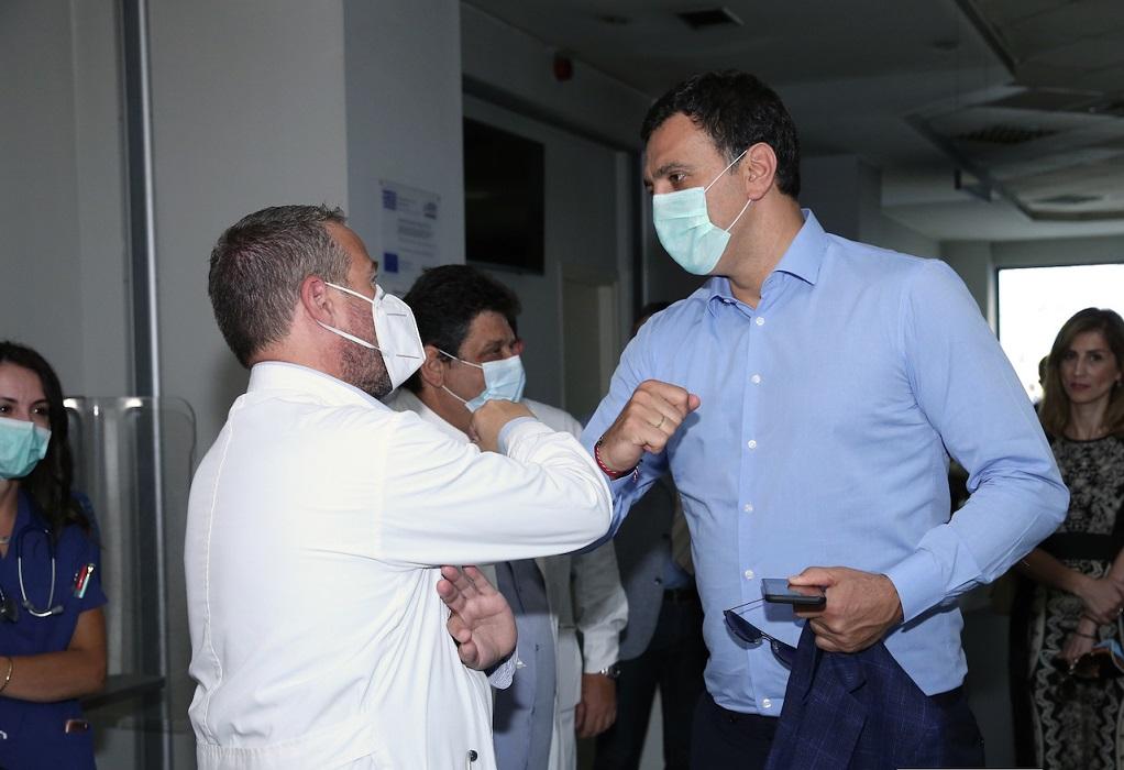 Κικίλιας: Ενίσχυση του νοσοκομείου της Κέρκυρας για περιστατικά COVID-19
