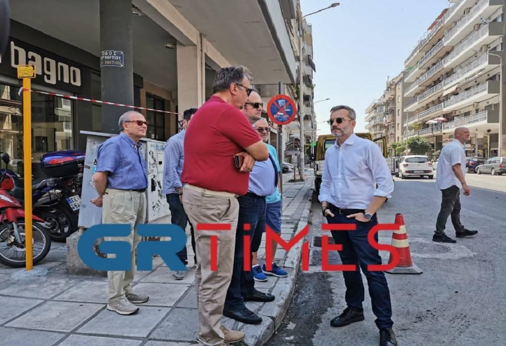 Θεσ/νίκη: Συνεχίζονται οι ασφαλτοστρώσεις -Επιθεώρηση Ζέρβα (ΦΩΤΟ+VIDEO)