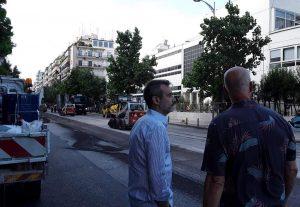 Τα έργα στη Λεωφόρο Στρατού επιθεώρησε ο Δήμαρχος Θεσσαλονίκης