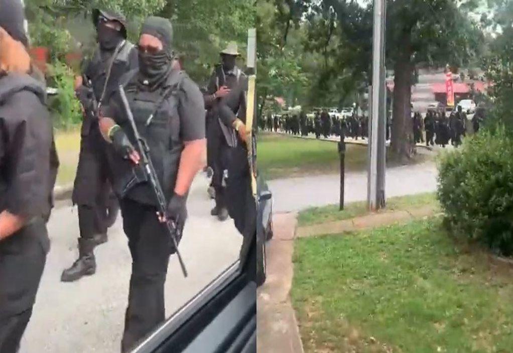 Οπλισμένοι Αφροαμερικανοί σε πορεία στις ΗΠΑ (VIDEO)