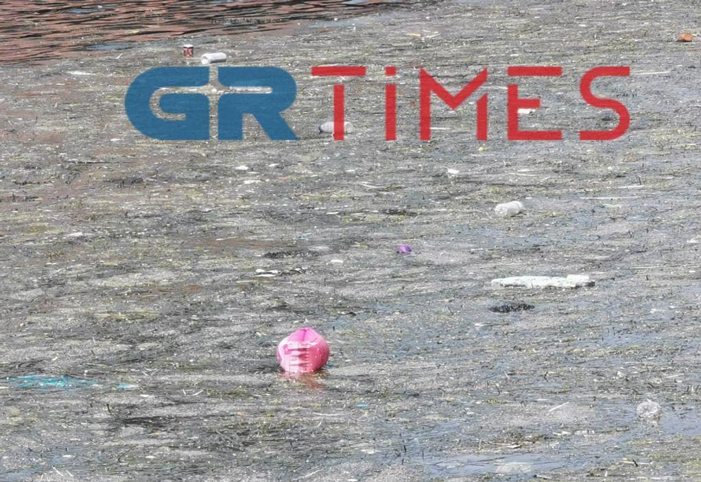 Θεσσαλονίκη: Θερμαϊκός για άλλη μια φορά γέμισε με σκουπίδια, φωτογραφία-1