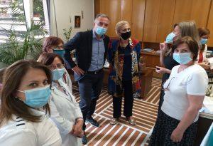 Σ. Καλαφάτης: Επίσκεψη στο Αντικαρκινικό Νοσοκομείο Θεσσαλονίκης «Θεαγένειο»