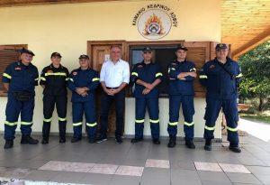 Στ. Καλαφάτης: Επίσκεψη σε πυροσβεστικό φυλάκιο