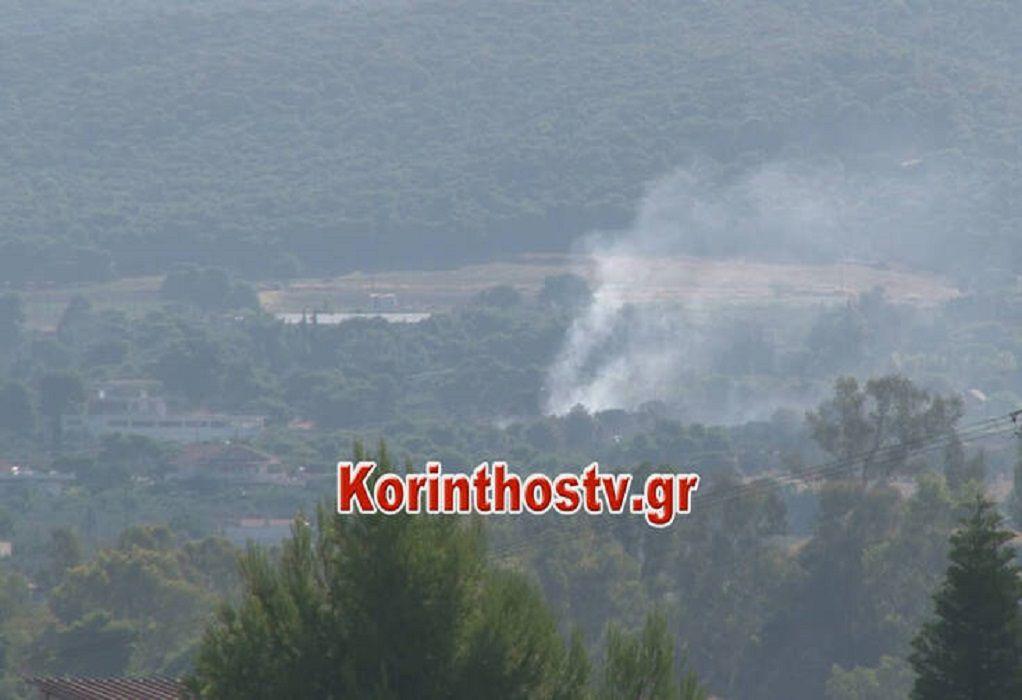 Υπό μερικό έλεγχο η φωτιά στο Λουτράκι