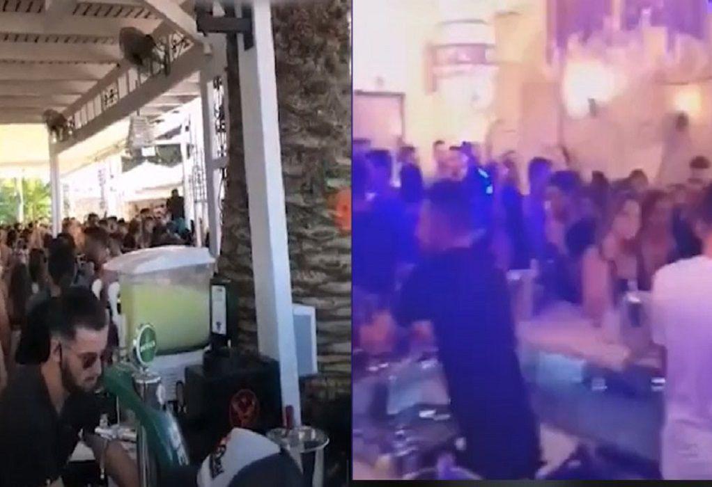 Εικόνες συνωστισμού από μπαρ σε Σπέτσες και Αγίους Θεοδώρους