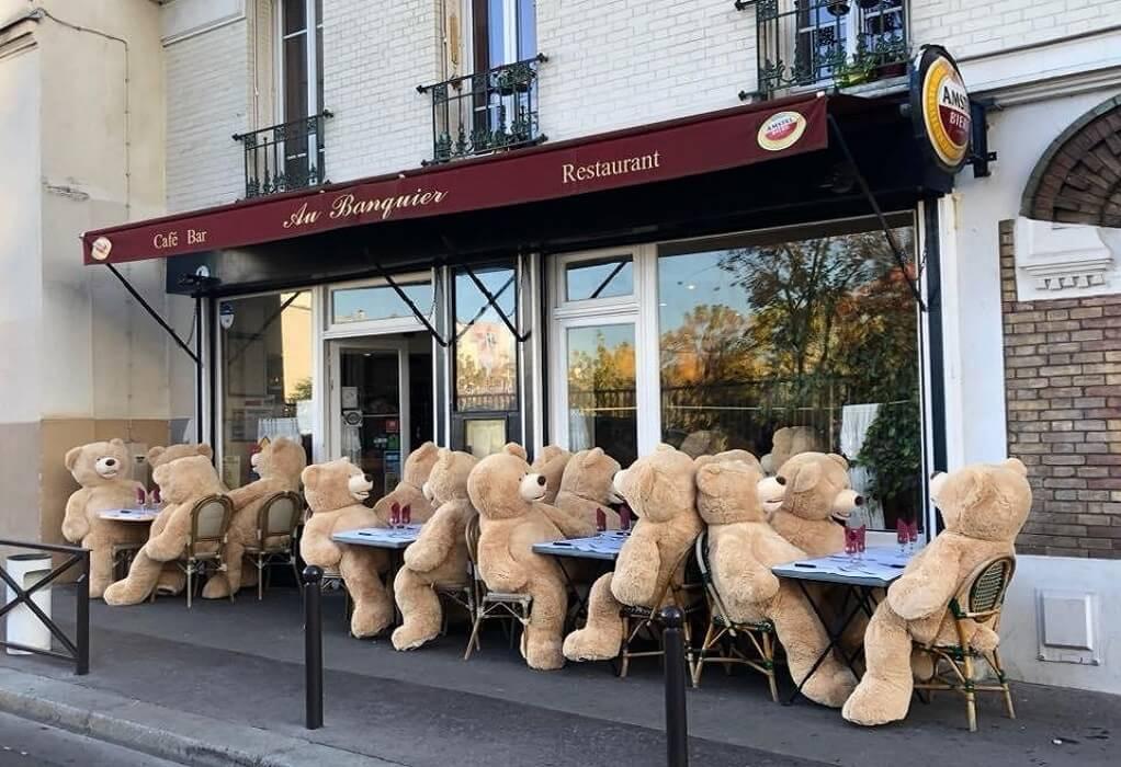Παριζιάνικος καφές με συντροφιά αρκούδων