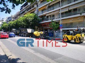 Σε εξέλιξη τα έργα για τον ποδηλατόδρομο στην Κ.Καραμανλή (ΦΩΤΟ-VIDEO)