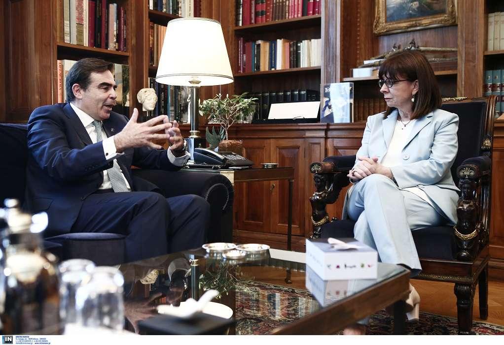 Συναντηση Κ. Σακελλαροπούλου με τον Μ. Σχοινά – Τι συζήτησαν