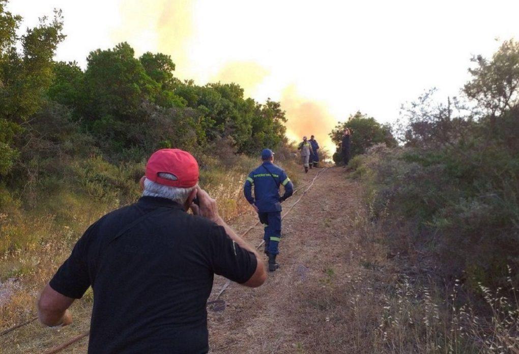 Μεγάλη φωτιά στη Ζάκυνθο (VIDEO)