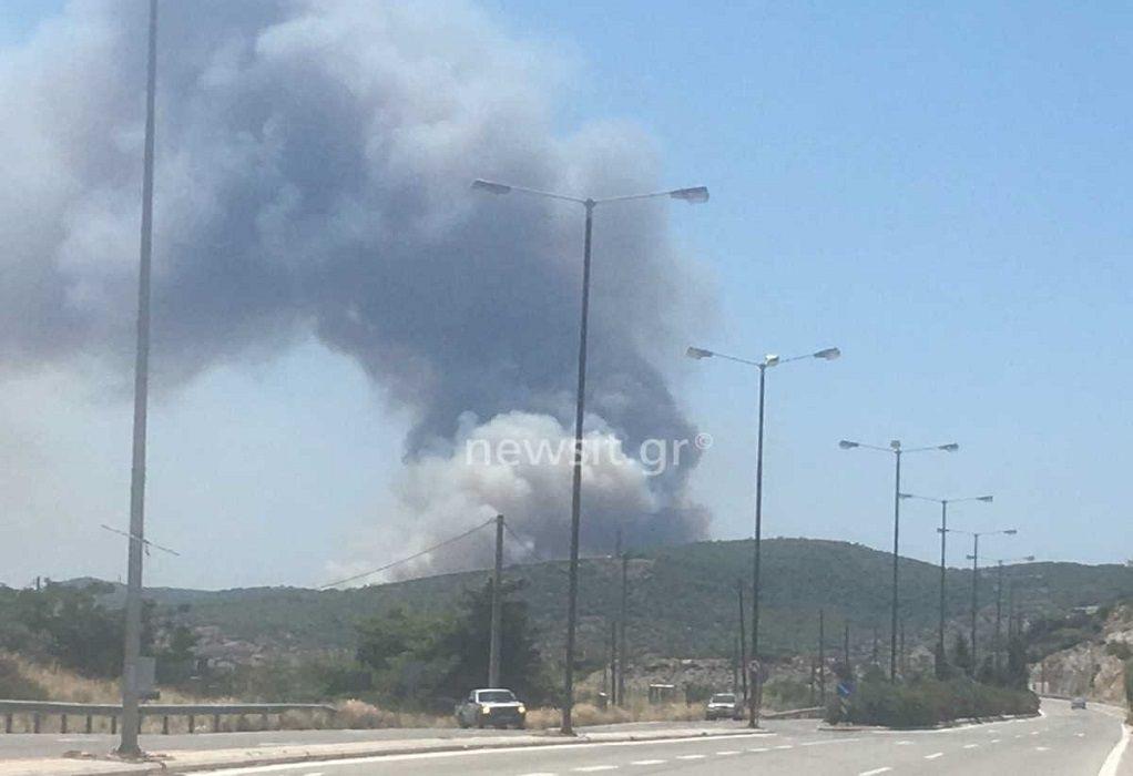 Φωτιά στο Λαύριο: Ενίσχυση των δυνάμεων – Στο σημείο ο Χαρδαλιάς