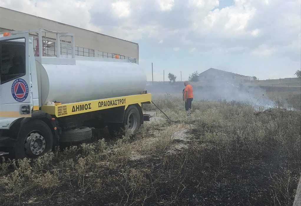 Θεσσαλονίκη: Φωτιά στη Νεοχωρούδα Ωραιοκάστρου (ΦΩΤΟ)