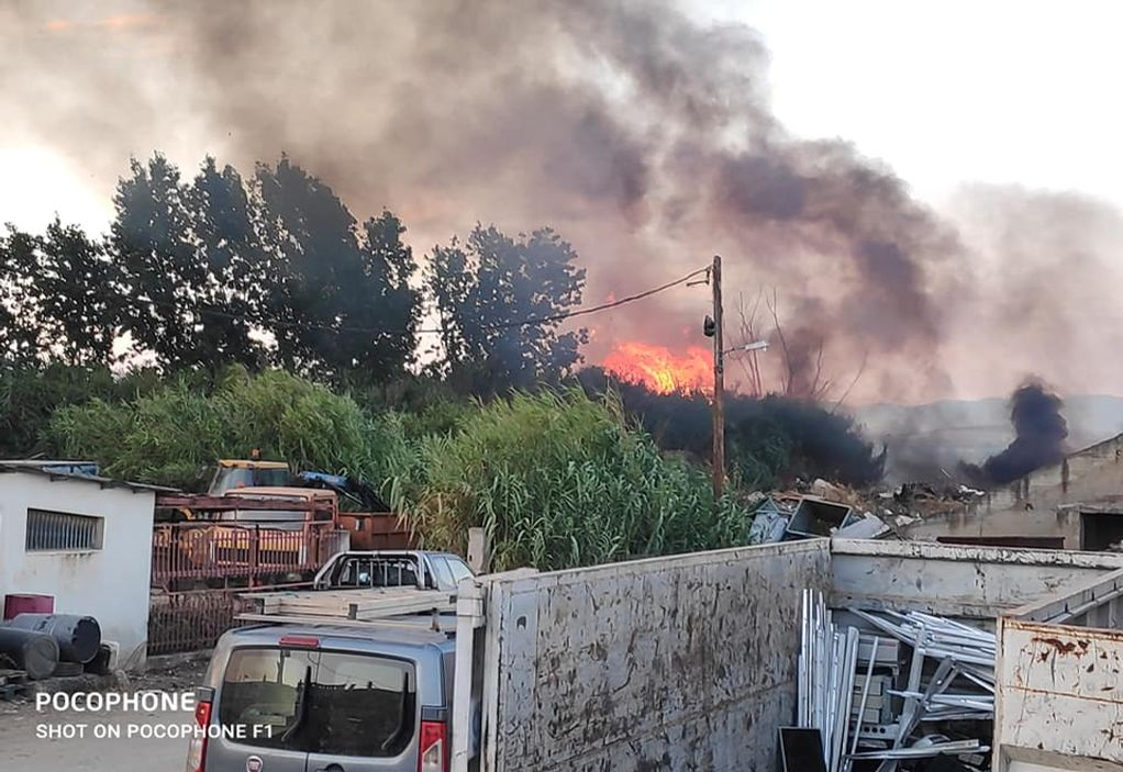 Φωτιά στα Νέα Μουδανιά Χαλκιδικής (ΦΩΤΟ – VIDEO)
