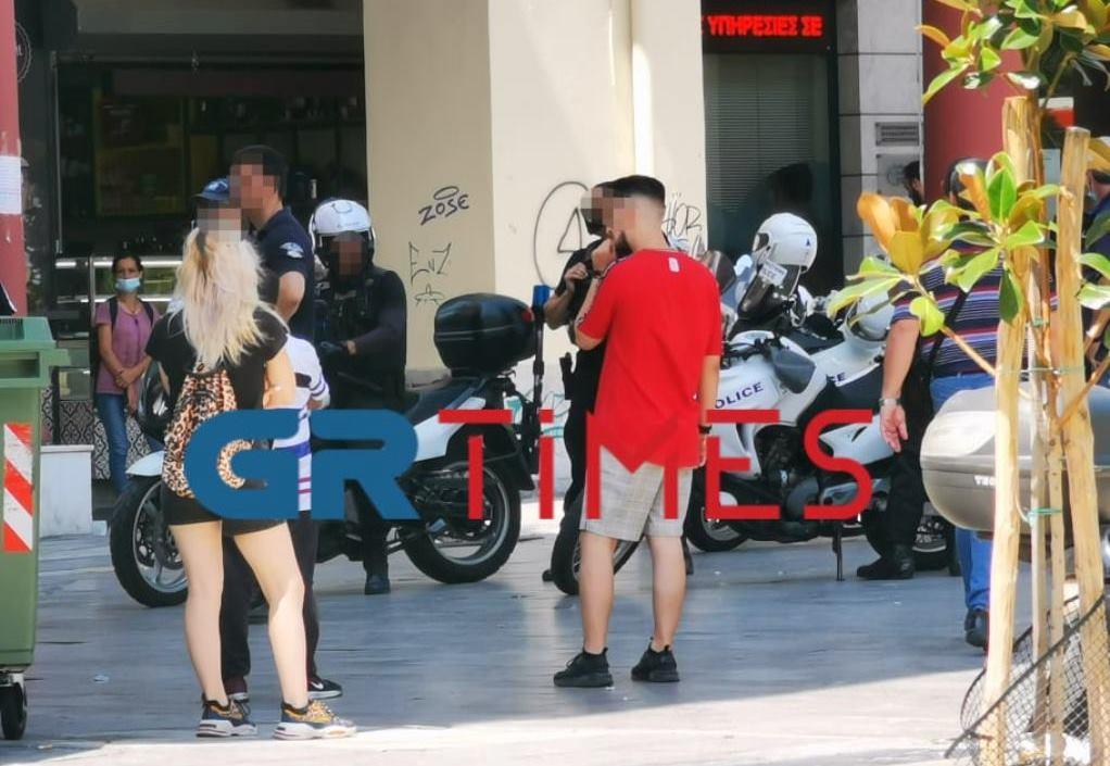 Θεσσαλονίκη: Συμπλοκή στην αγορά Καπάνι (ΦΩΤΟ)