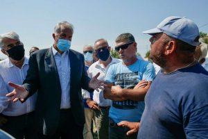 Βορίδης στην Εύβοια: Προτεραιότητα η αποκατάσταση της παραγωγικής διαδικασίας
