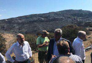 Μάνη: Στις πυρόπληκτες περιοχές ο Μ. Βορίδης