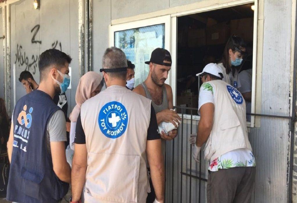 ΕΟΔΥ: Διανεμήθηκαν 4.100 σετ υγιεινής στο ΚΥΤ Σάμου