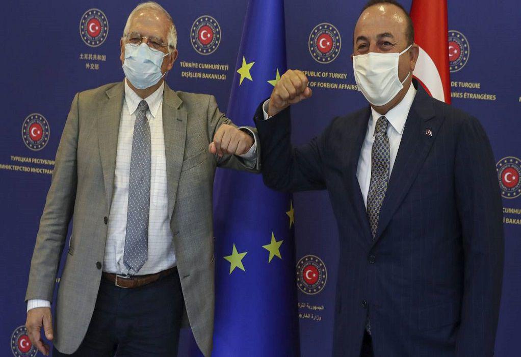 Μπορέλ και Τσαβούσογλου συζήτησαν τις εξελίξεις στην Αν. Μεσόγειο