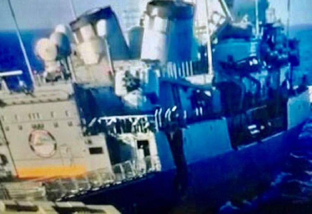 Ντοκουμέντο από τη σύγκρουση της φρεγάτας «Λήμνος» με το Kemal Reis