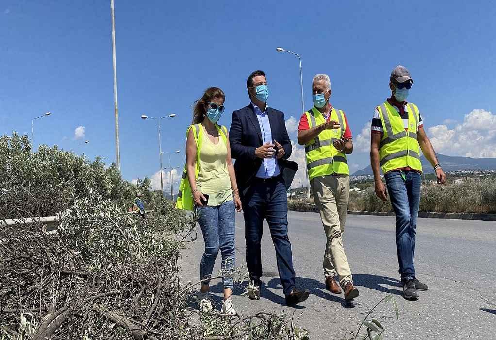 Αυτοψία Τζιτζικώστα στις εργασίες στην Περιφερειακή οδό (ΦΩΤΟ)