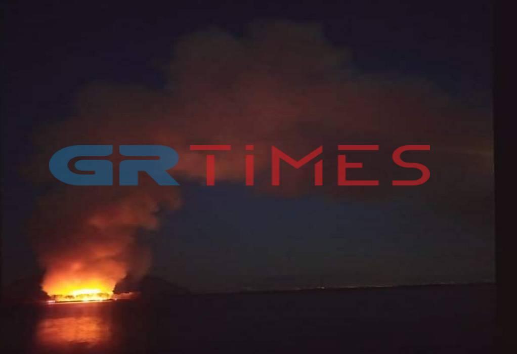 Συναγερμός στη Πυροσβεστική – Φωτιά στο Μεσολόγγι