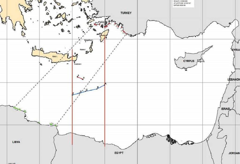 Ελλάδα-Αίγυπτος: Ο χάρτης της συμφωνίας ΑΟΖ