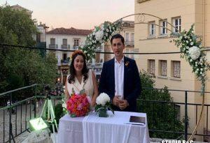 Παντρεύτηκε στο Ναύπλιο ο Παύλος Χρηστίδης