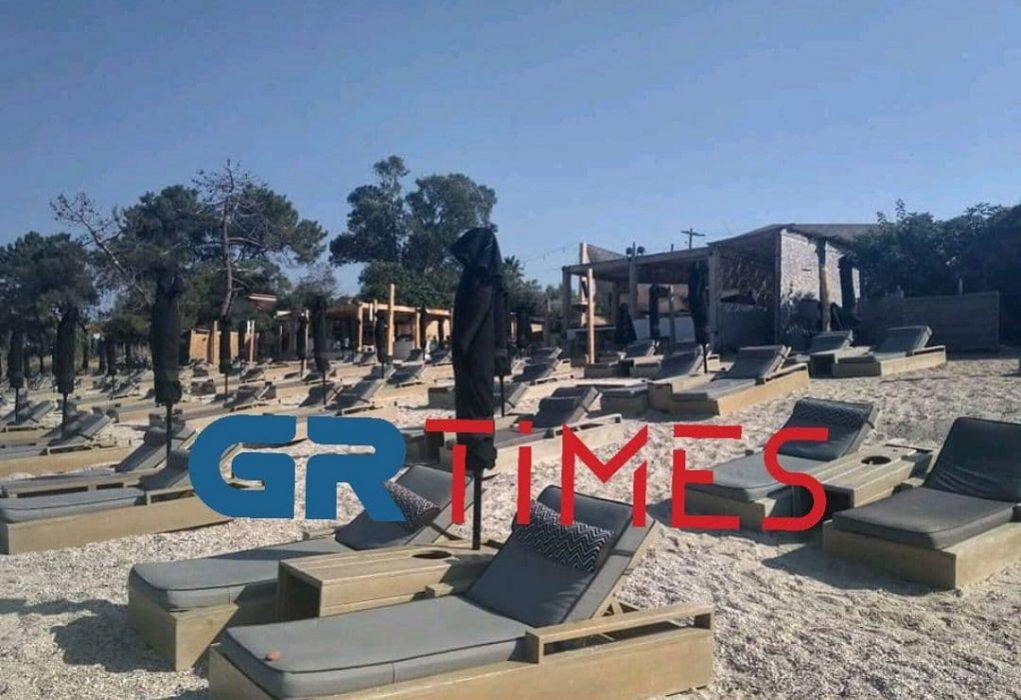 Σφράγισαν και άλλο beach bar στη Χαλκιδική (ΦΩΤΟ)
