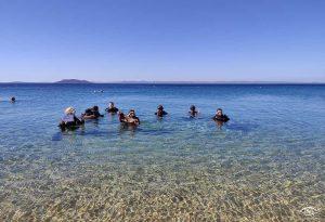 Υποβρύχιος καθαρισμός στη Λαγόμανδρα Χαλκιδικής (ΦΩΤΟ)