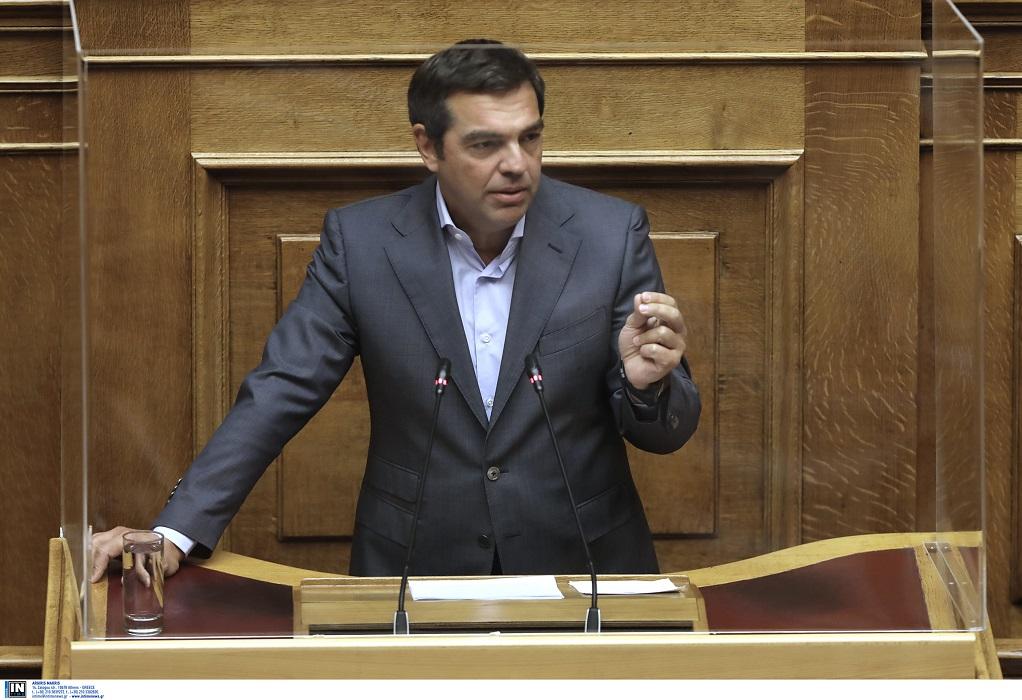 LIVE ομιλία Τσίπρα στη Βουλή για τον Πτωχευτικό Κώδικα