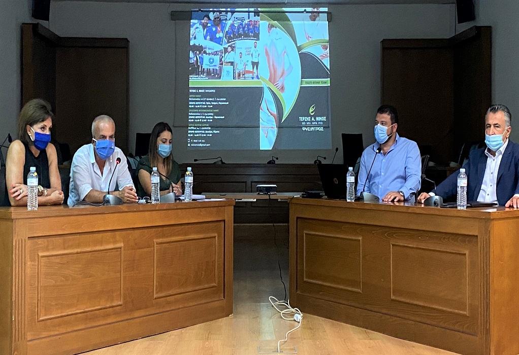 Σίνδος: Ενημέρωση αθλητικών σωματείων για τα μέτρα ενάντια στον κορωνοϊό