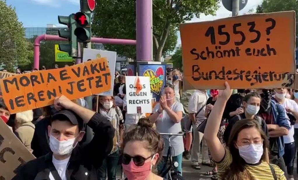 Γερμανία: Διαδηλώσεις υπέρ της υποδοχής μεταναστών από τη Μόρια