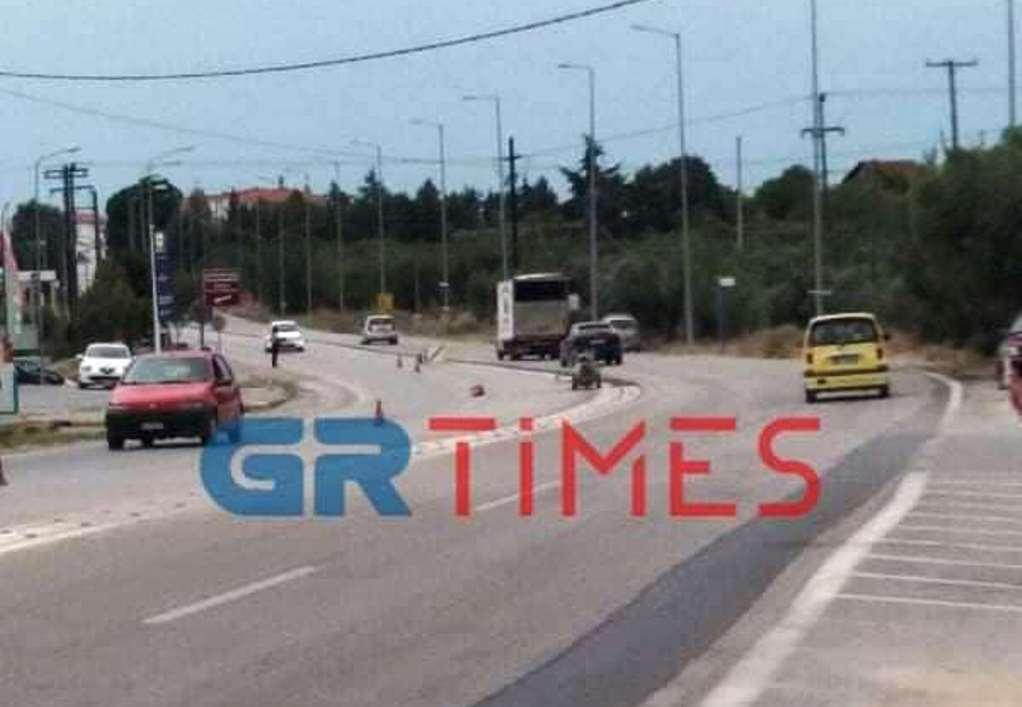 Επανομή: Νησίδα ασφαλείας στον δρόμο-καρμανιόλα (ΦΩΤΟ)