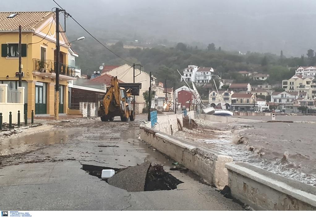 Καταστροφές από τον «Ιανό» σε Ιόνιο και δυτική Πελοπόννησο (ΦΩΤΟ + VIDEO)