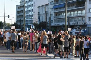 Διαμαρτυρία κατά της μάσκας στα σχολεία και σε άλλες πόλεις