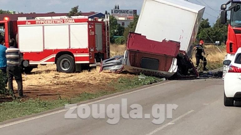 Τροχαίο δυστύχημα στην επαρχιακή οδό Θηβών – Χαλκίδας