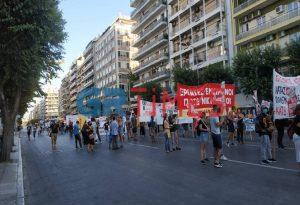 Θεσ/νίκη: Πορεία διαμαρτυρίας στην Εγνατία (ΦΩΤΟ-VIDEO)