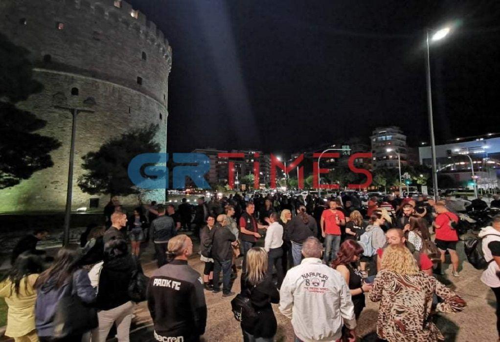 Μεταμεσονύχτια διαμαρτυρία εστιατόρων στο Λευκό Πύργο (VIDEO)