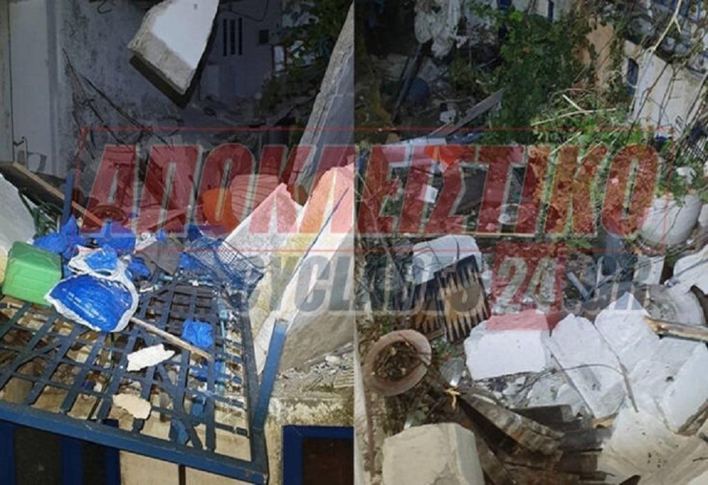 Νάξος: Έκρηξη ισοπέδωσε σπίτι