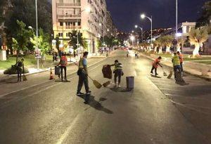 Θεσ/νίκη: «Λαμπίκο» σε χρόνο ρεκόρ το κέντρο μετά τις πορείες (ΦΩΤΟ)