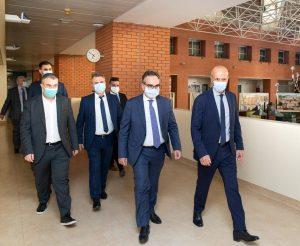 Επίσκεψη Β. Κοντοζαμάνη στο νοσοκομείο Παπαγεωργίου