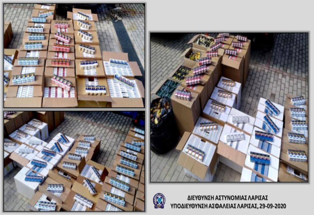 Λάρισα: Ακόμη μια σύλληψη για λαθραία τσιγάρα (ΦΩΤΟ)
